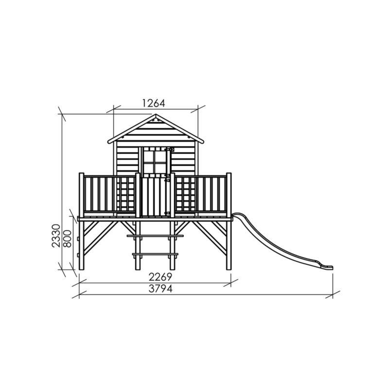 Children's wooden playhouse DAIGELIS