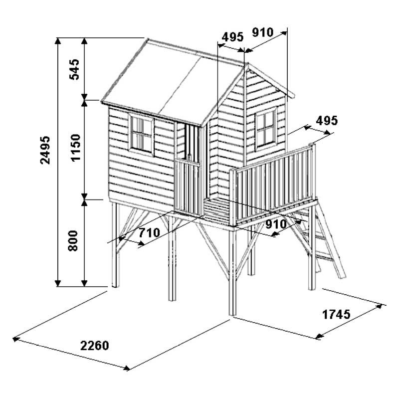 Children's wooden playhouse GANDRIUKAS